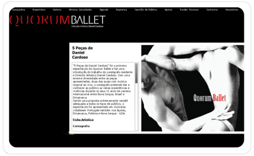 SITES EM FLASH Site - Quorum Ballet